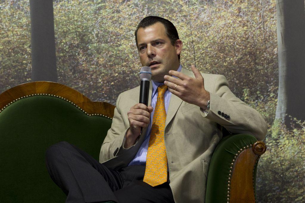 Phillip Freiherr zu Guttenberg bei der Interforst im Jahre 2010