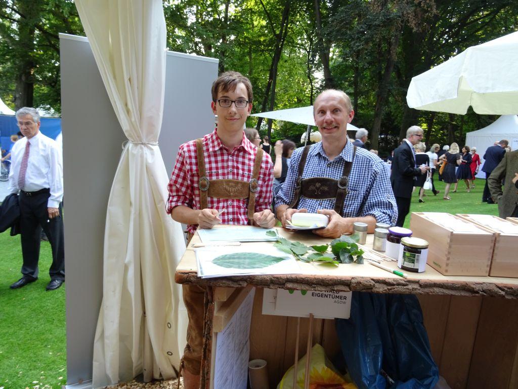 Bürgerfest 2016 in Niedersachsen: Am Stand Die Waldeigentümer