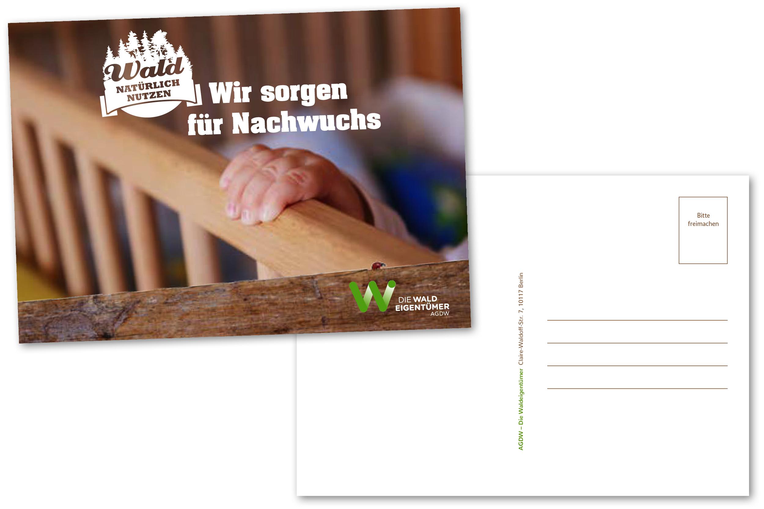 Postkarte_Wir sorgen für Nachwuchs