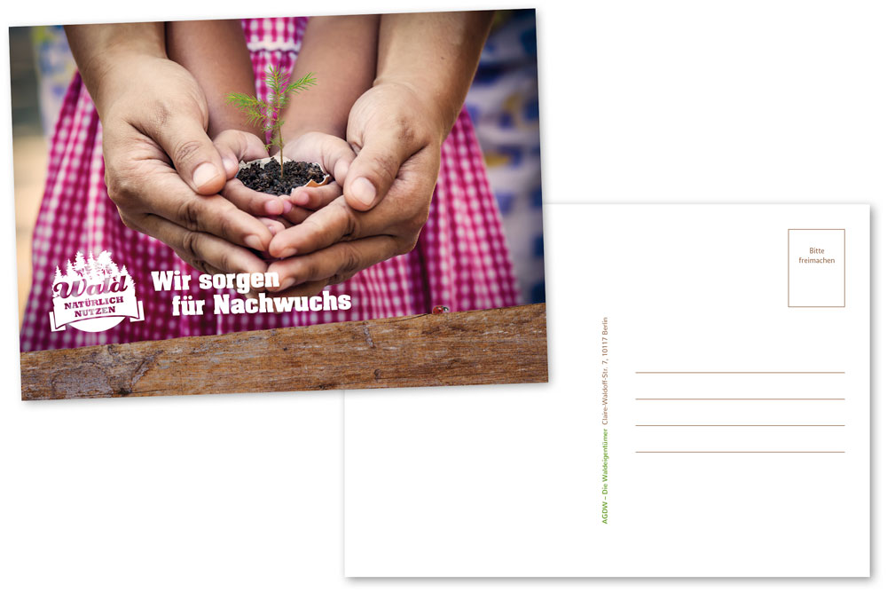 Postkarte_Wir sorgen für Nachwuchs_Hände