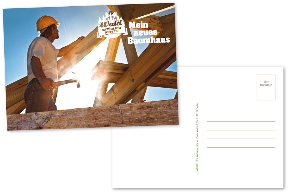 Postkarte_Mein neues Baumhaus