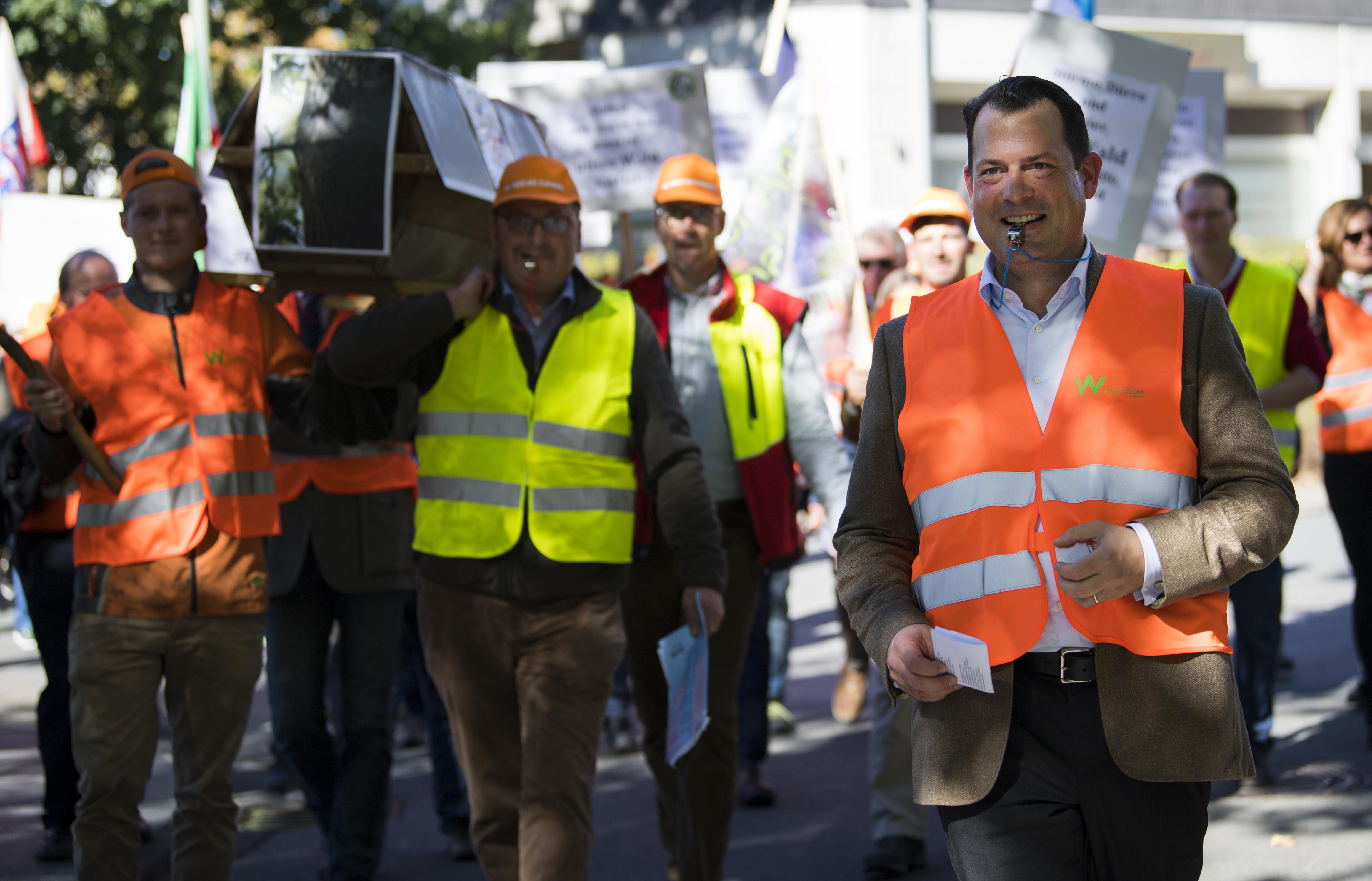 Auf der Demo: Philipp zu Guttenberg